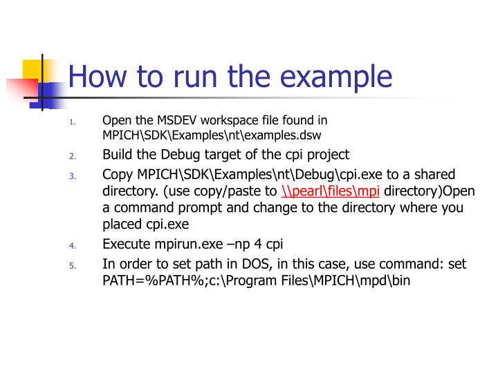 How to run the example