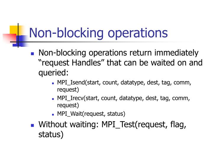 Non-blocking operations