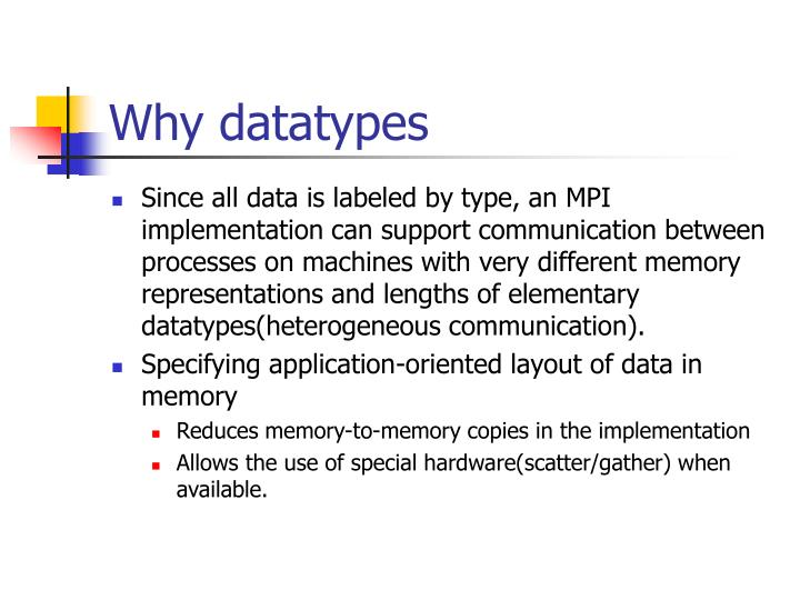 Why datatypes
