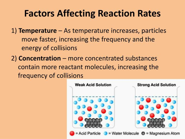 factor effecting reaction rates