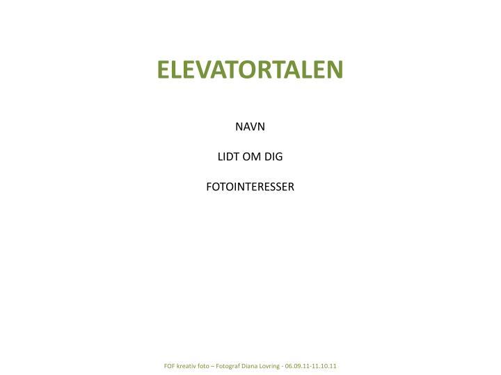 ELEVATORTALEN