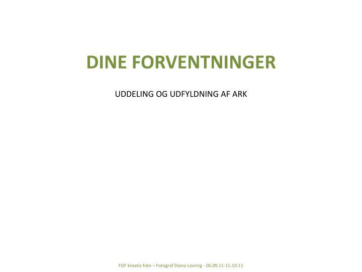 DINE FORVENTNINGER