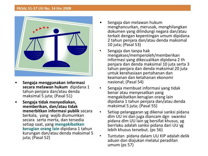 PASAL 51-57 UU No. 14