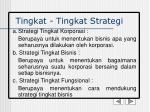 tingkat tingkat strategi