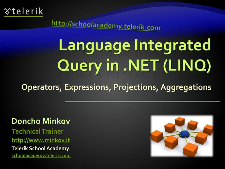 language integrated query in net linq n.