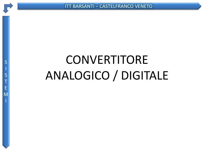 convertitore analogico digitale n.