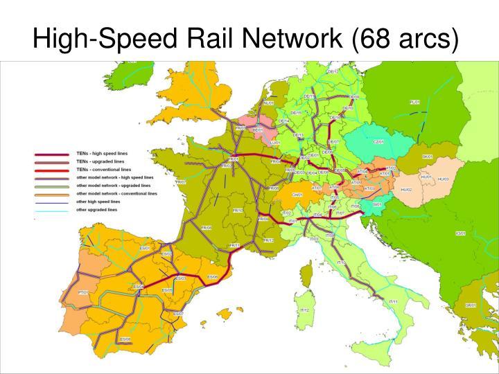 High-Speed Rail Network (68 arcs)