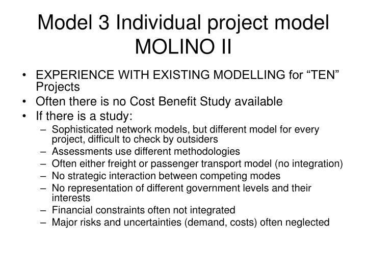Model 3 Individual project model MOLINO II