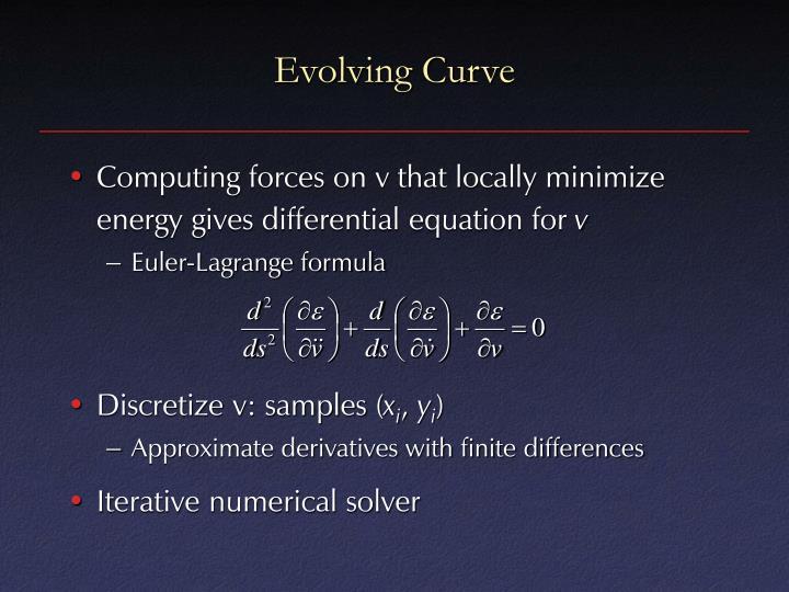 Evolving Curve