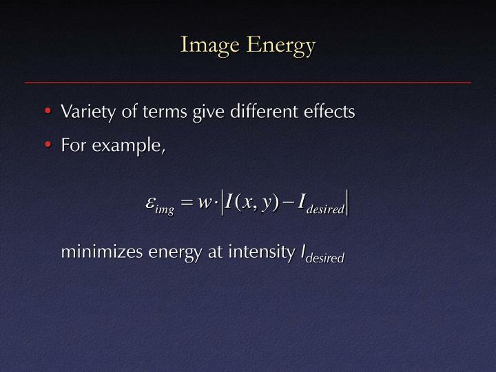 Image Energy