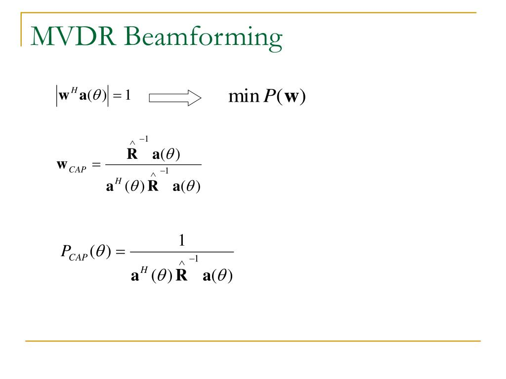 PPT - The Simulation of Beamforming Techniques PowerPoint