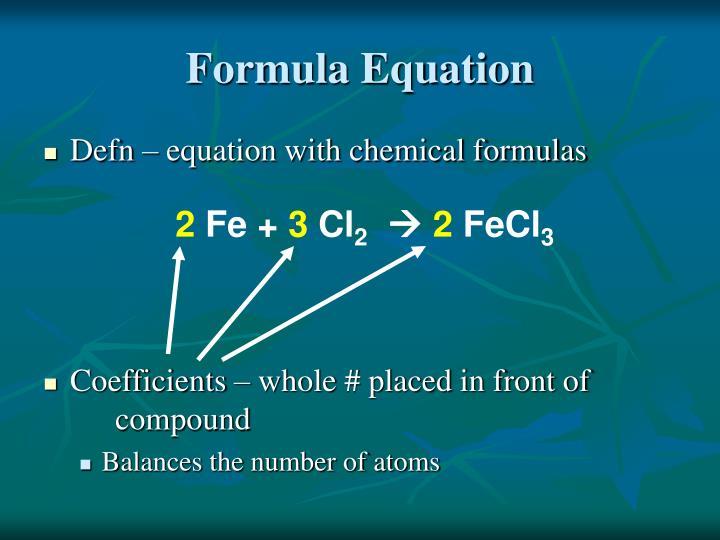 Formula Equation