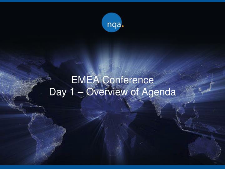 emea conference day 1 overview of agenda n.