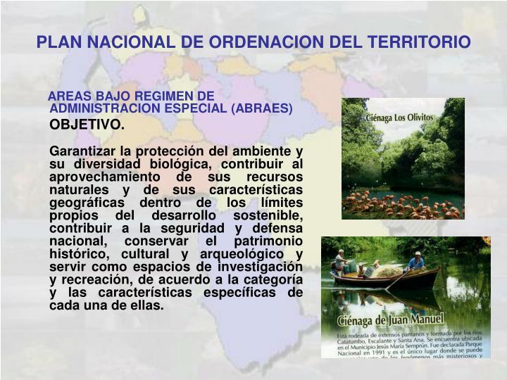 PLAN NACIONAL DE ORDENACION DEL TERRITORIO