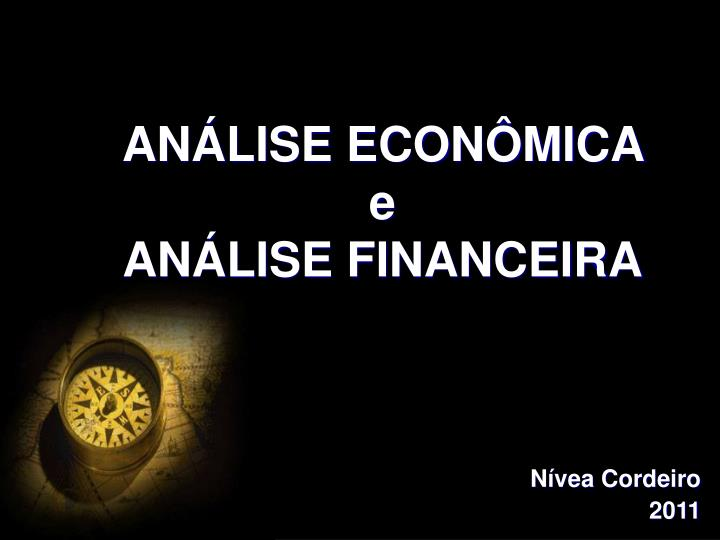 An lise econ mica e an lise financeira