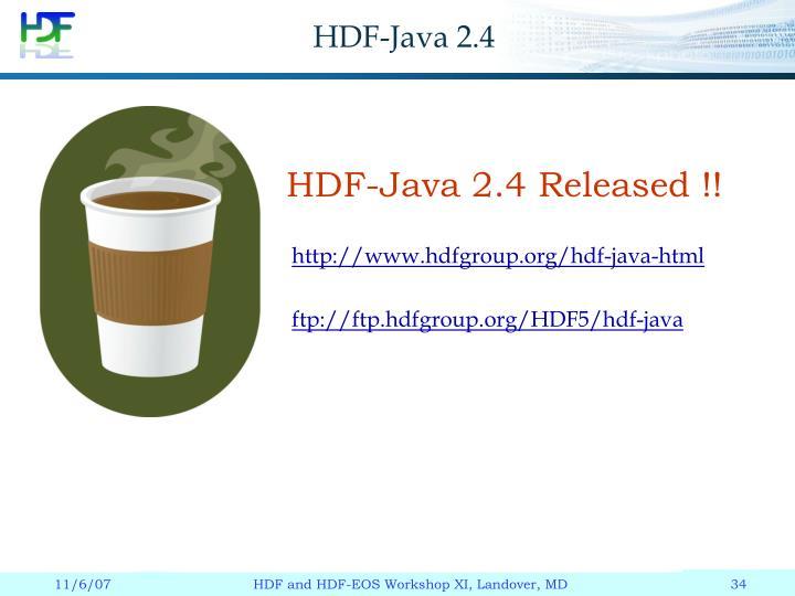 HDF-Java 2.4