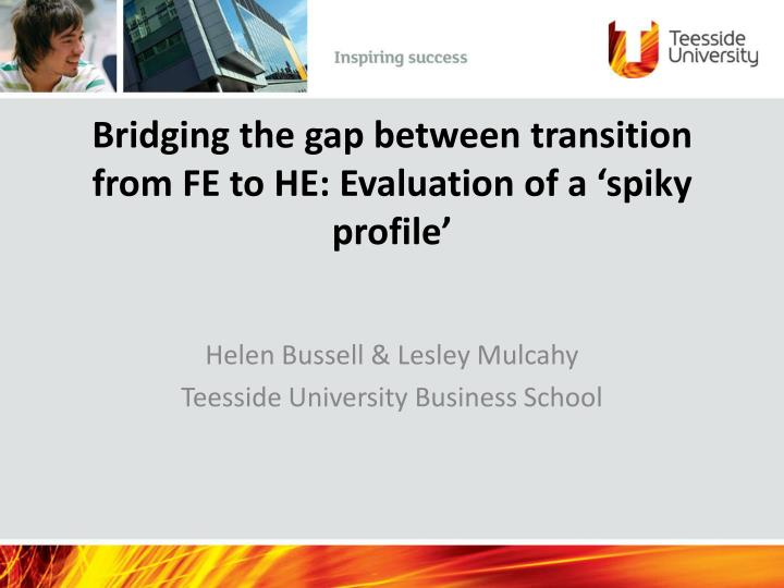 bridging the gap between transition from fe to he evaluation of a spiky profile