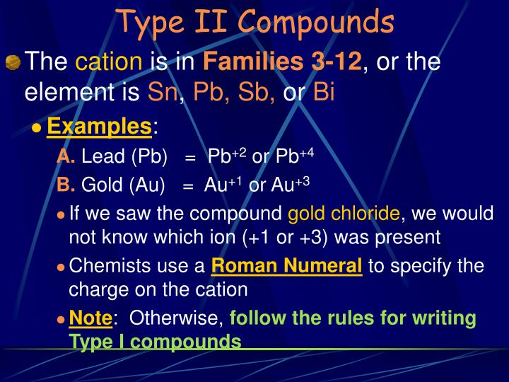 Type II Compounds