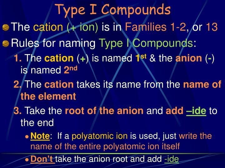 Type I Compounds