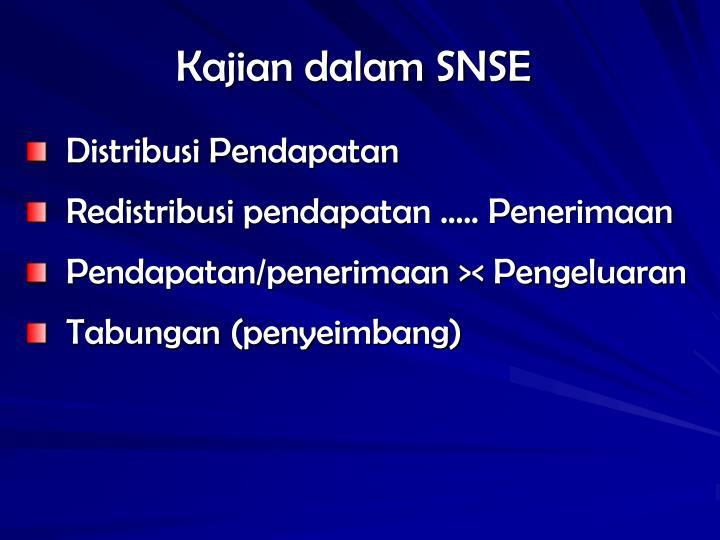 Kajian dalam SNSE