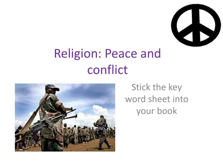 religion peace and conflict n.