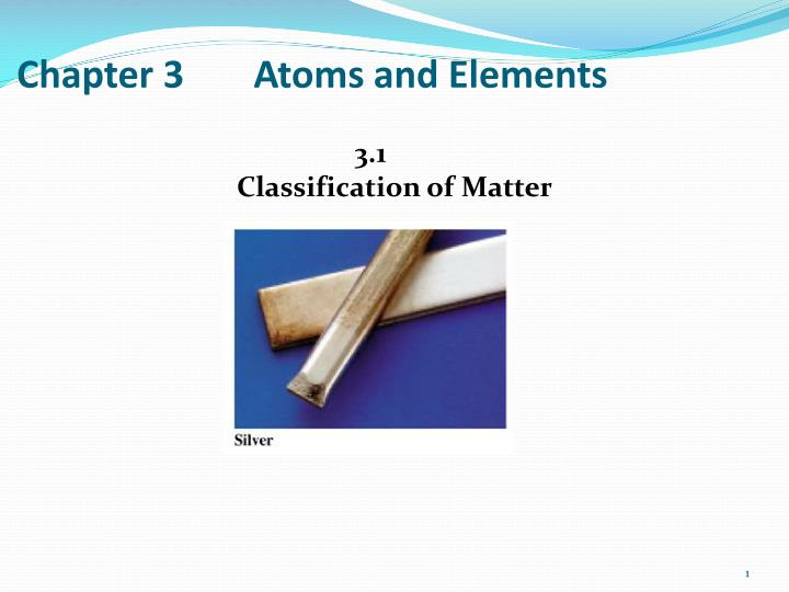 chapter 3 atoms and elements n.