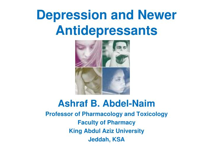 depression and newer antidepressants n.