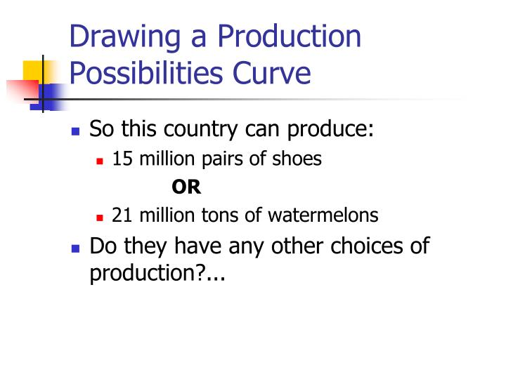 Drawing a Production Possibilities Curve