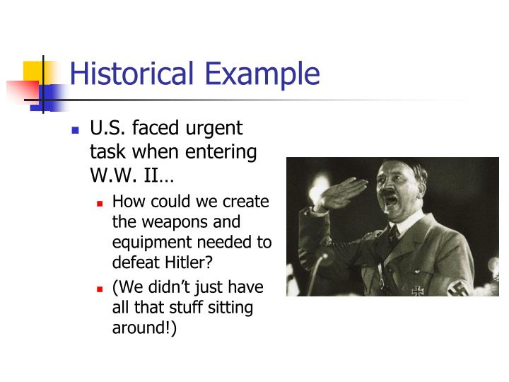 Historical Example
