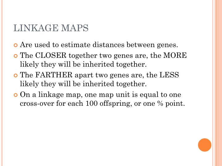 LINKAGE MAPS