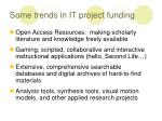 some trends in it project funding