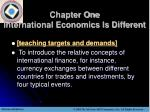 chapter one international economics is different