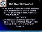 the overall balance