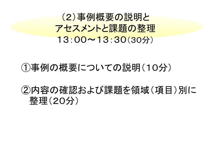 (2)事例概要の説明と