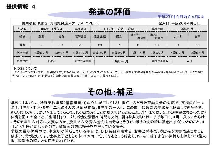 提供情報 4
