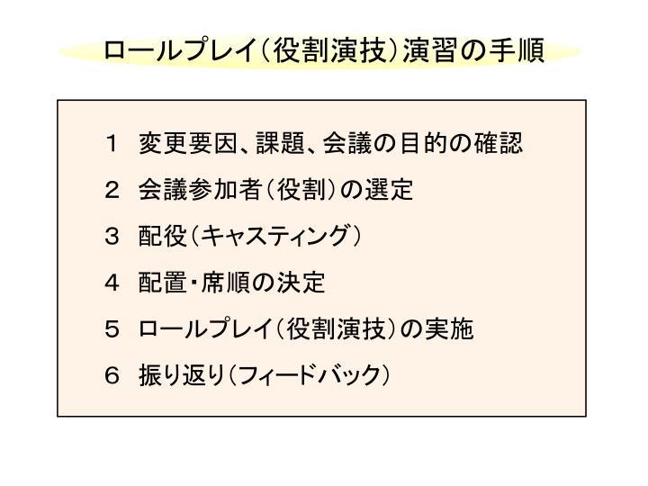 ロールプレイ(役割演技)演習の手順