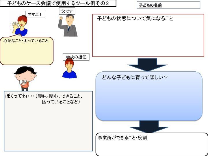 子どものケース会議で使用するツール例その2