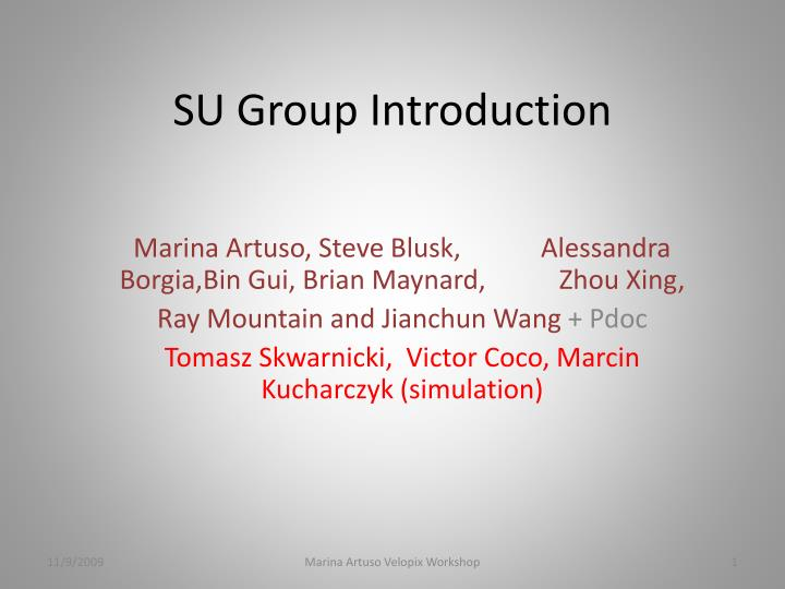 su group introduction n.