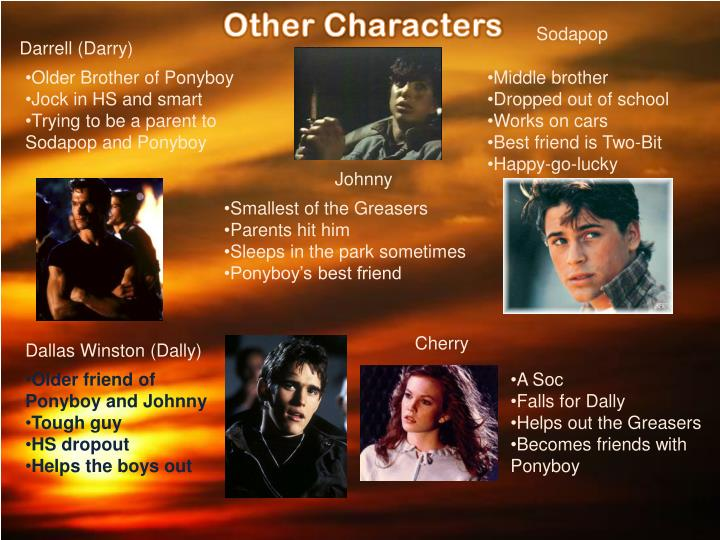 the transformations of ponyboy and johnny in the outsiders by se hinton Tthhee oouuttssiiddeerrss s e hinton according to wikipedia, the outsiders is a coming-of-age novel by s e hinton, first published in 1967 by viking press hinton was 15 when she started writing the novel, but.