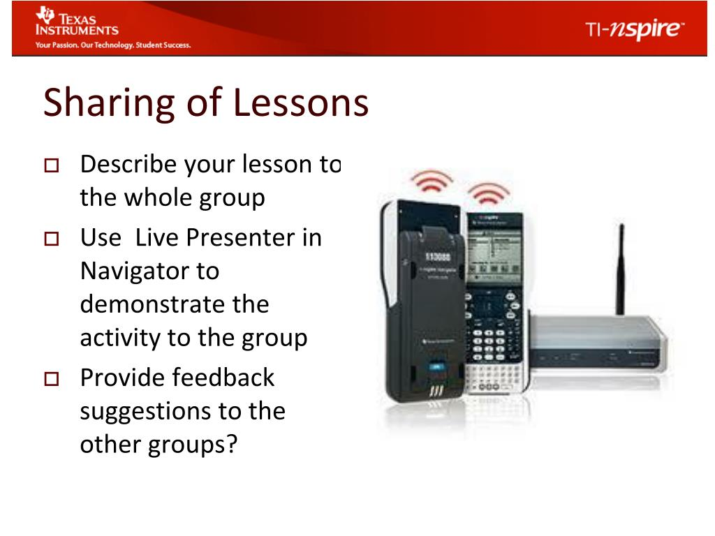 PPT - Math Menu: Using Nspire CAS in the Classroom Day 2