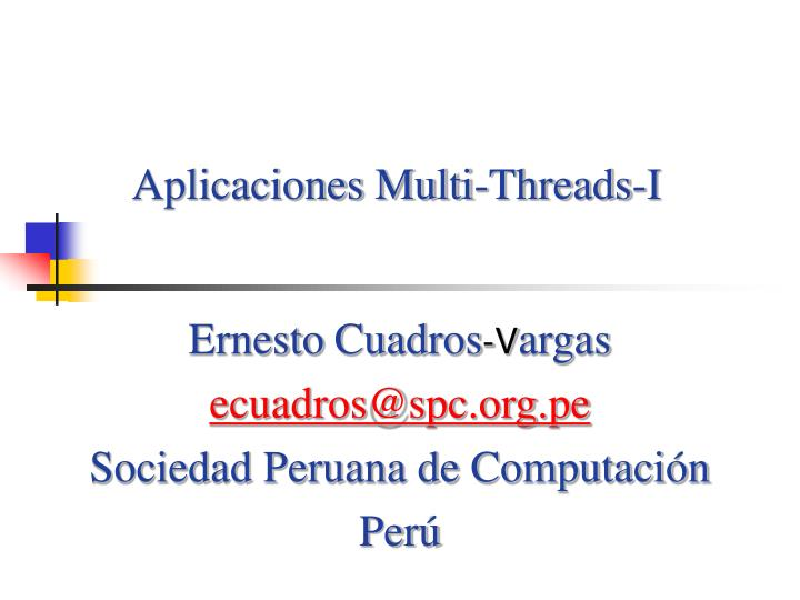Aplicaciones multi threads i