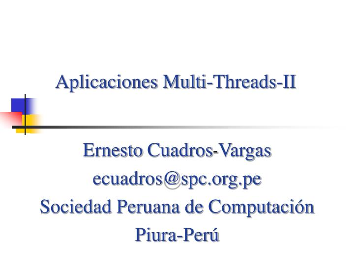 Aplicaciones Multi-Threads-II