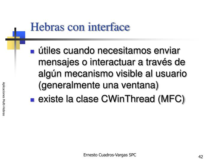 Hebras con interface