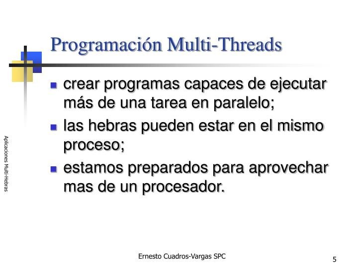 Programación Multi-Threads