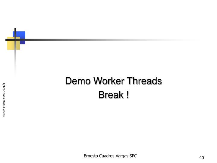 Demo Worker Threads