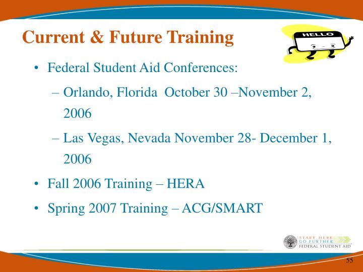 Current & Future Training