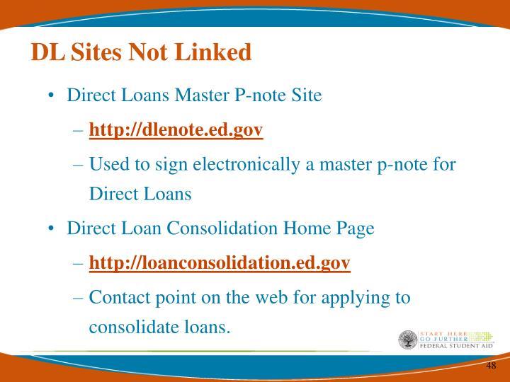 DL Sites Not Linked