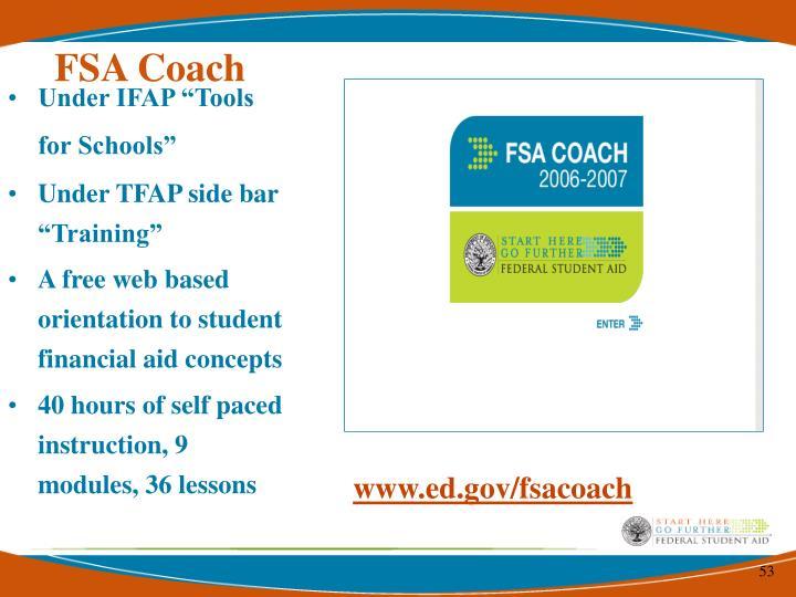 FSA Coach