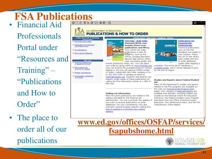 FSA Publications