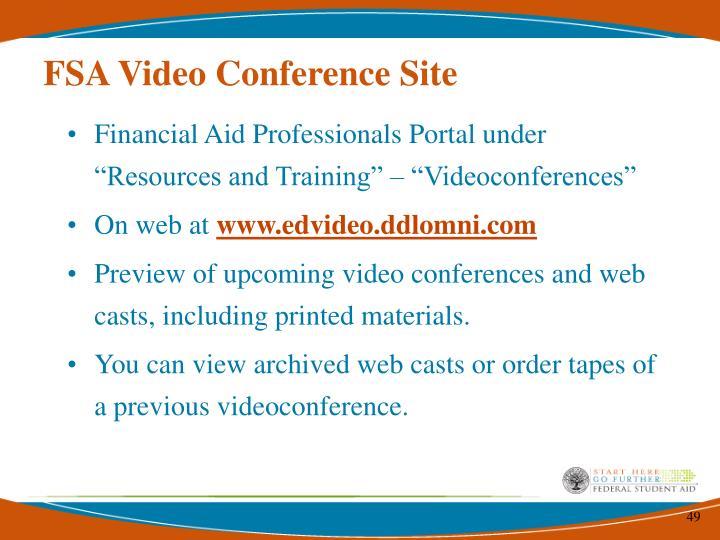 FSA Video Conference Site
